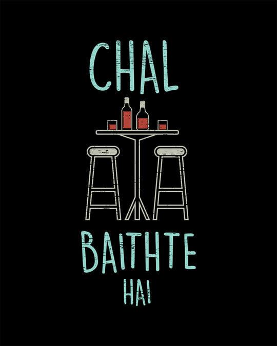 Shop Chal Baithte Hai Boyfriend T-Shirt