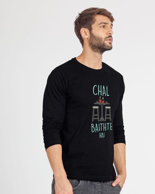 Shop Chal Baithte Hai Full Sleeve T-Shirt-Back