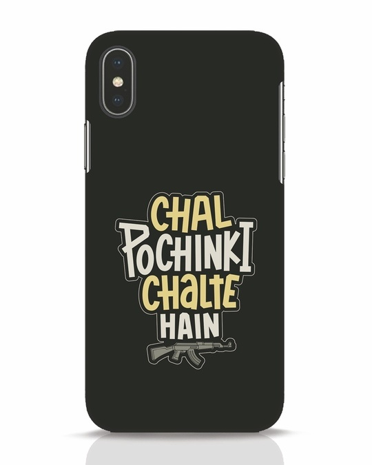 Shop Chal Pochinki Chalte Hain iPhone X Mobile Cover-Front