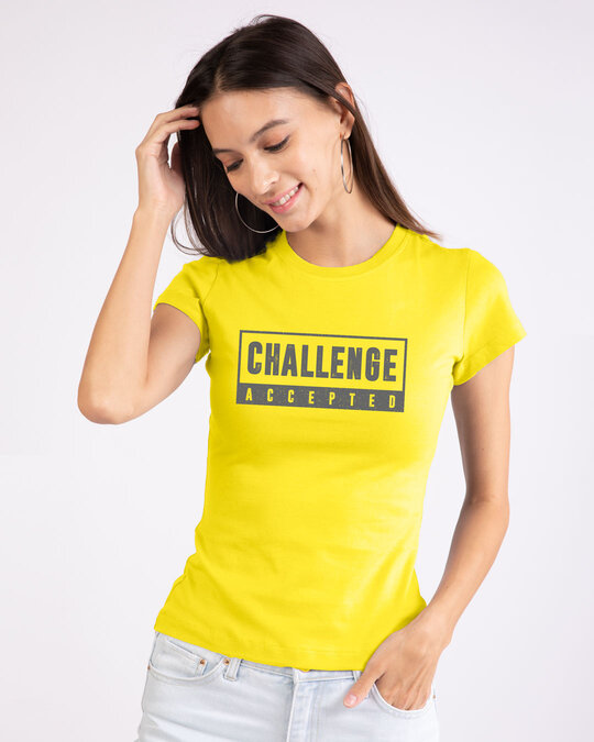 Shop Challenge Accepted By Me Half Sleeve T-Shirt-Front