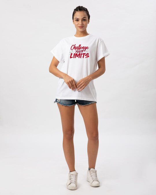 Shop Challenge Your Limits Boyfriend T-Shirt