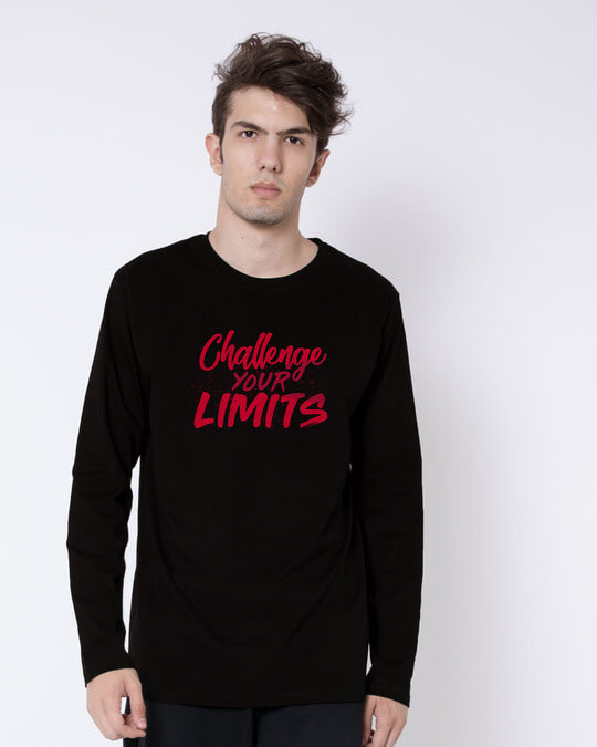 Shop Challenge Your Limits Full Sleeve T-Shirt-Front