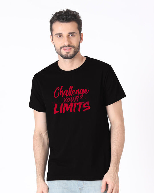 Shop Challenge Your Limits Half Sleeve T-Shirt-Back