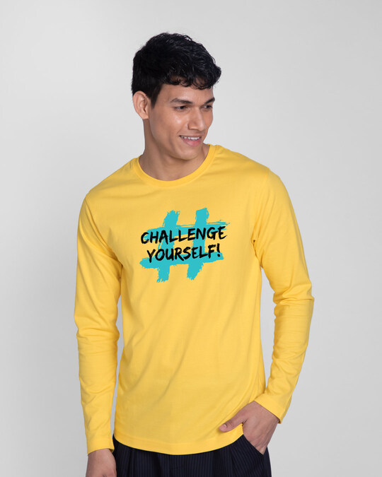 Shop Challenge Yourself Full Sleeve T-Shirt-Front