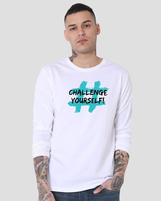 Shop Challenge Yourself Full Sleeve T-Shirt-Back