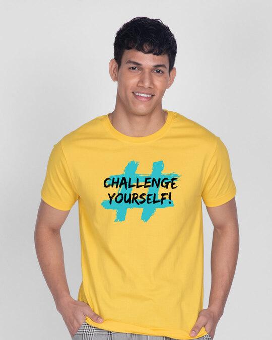 Shop Challenge Yourself Half Sleeve T-Shirt-Front