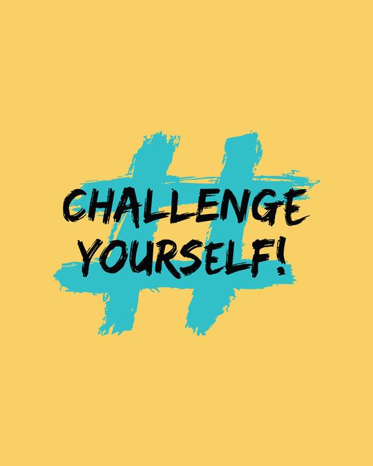 Shop Challenge Yourself Half Sleeve T-Shirt-Full