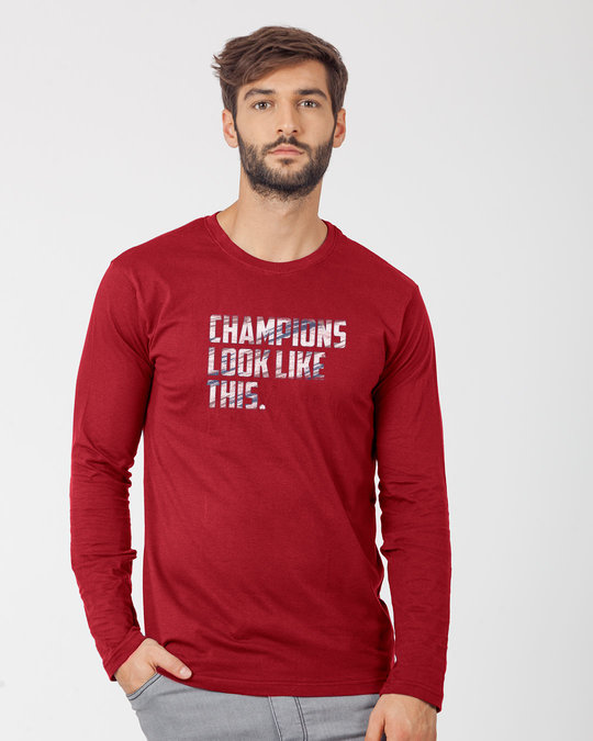 Shop Champions Look Like This Full Sleeve T-Shirt-Front