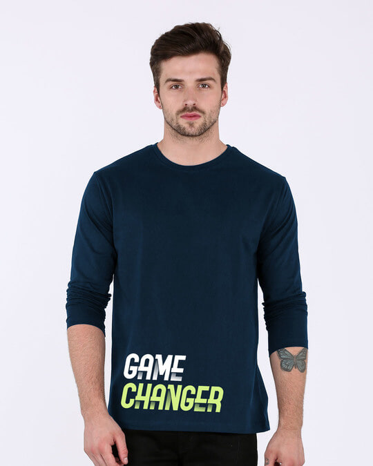 Shop Change The Game Full Sleeve T-Shirt-Front