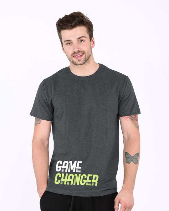 Shop Change The Game Half Sleeve T-Shirt-Front