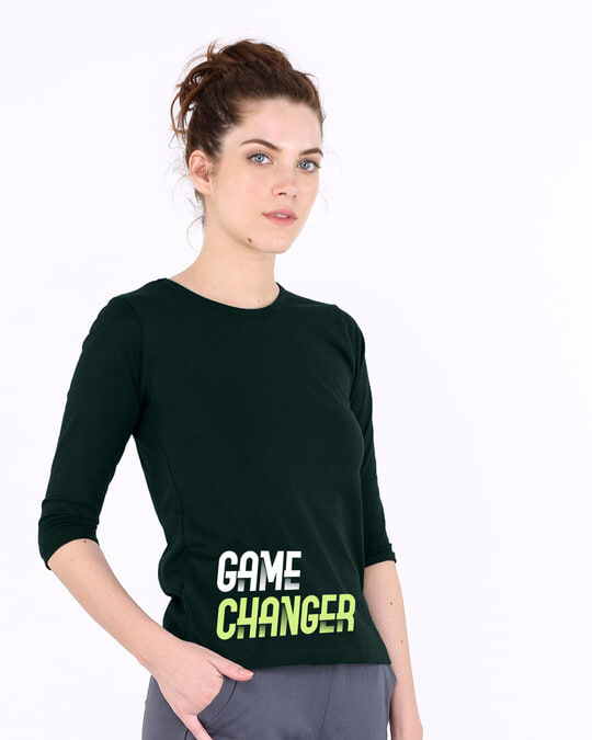 Shop Change The Game Round Neck 3/4th Sleeve T-Shirt-Back