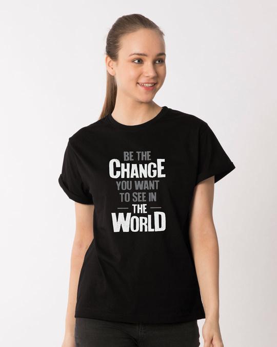 Shop Change The World Boyfriend T-Shirt-Front