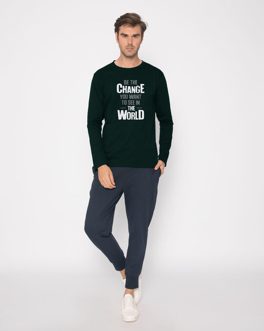 Shop Change The World Full Sleeve T-Shirt