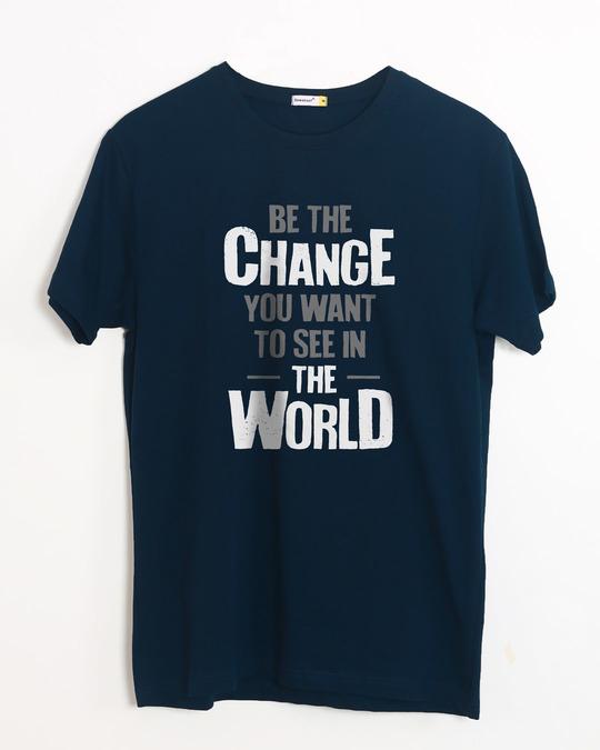 Shop Change The World Half Sleeve T-Shirt-Front