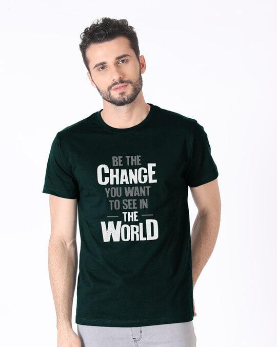 Shop Change The World Half Sleeve T-Shirt-Back