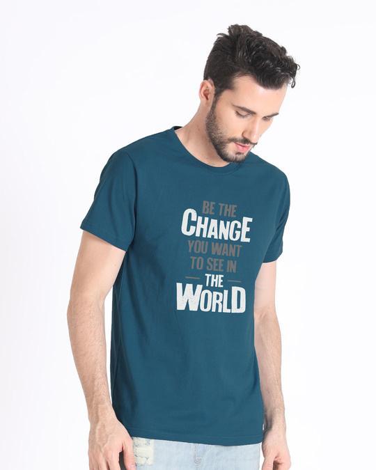 Shop Change The World Half Sleeve T-Shirt-Full