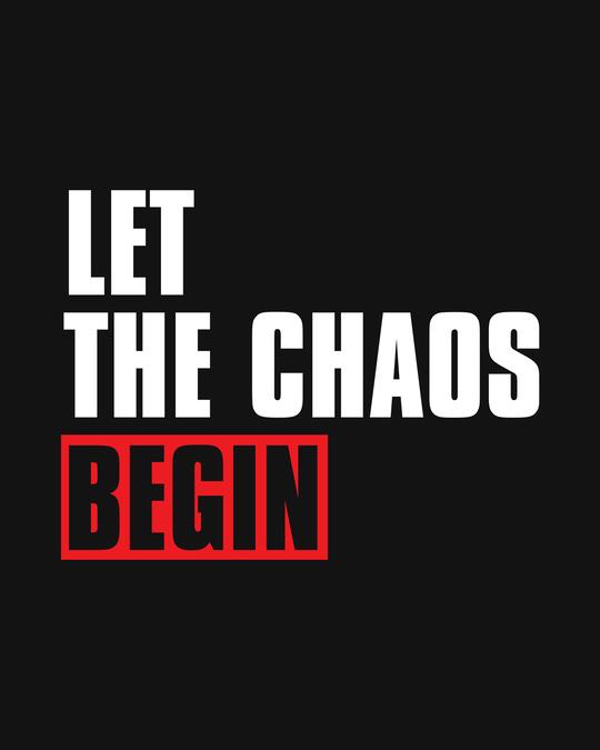 Shop Chaos Begin Full Sleeve T-Shirt