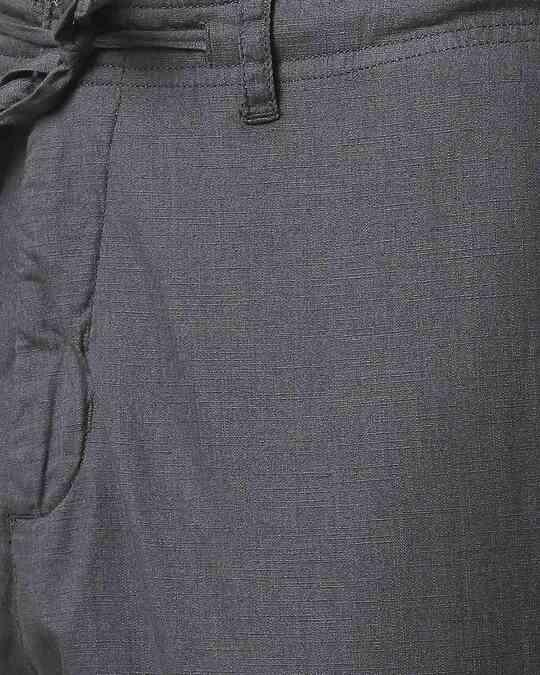 Shop Charcoal Grey Casual Cotton Pants