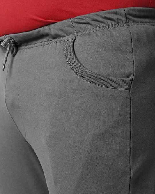 Shop Charcoal Grey Plus Size Casual Jogger Pants