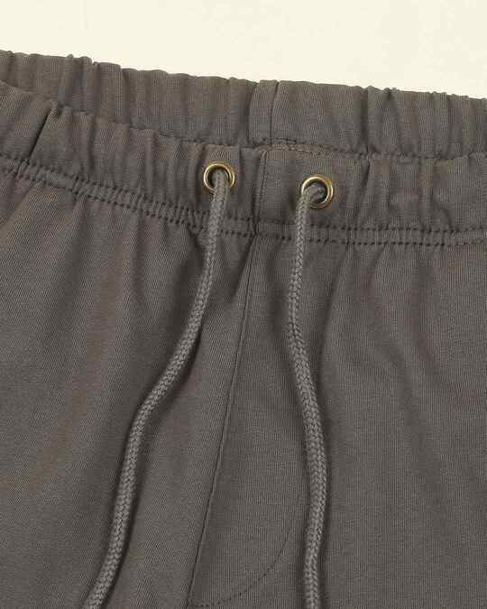 Shop Charcoal Grey Plus Size Casual Shorts