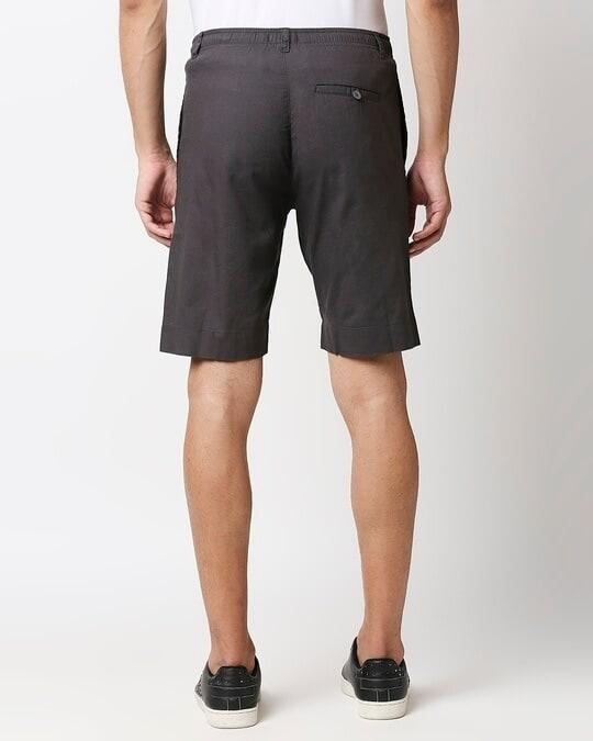 Shop Charcoal Grey Comfort Shorts-Full
