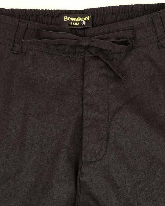 Shop Charcoal Grey Cotton Joggers Pants