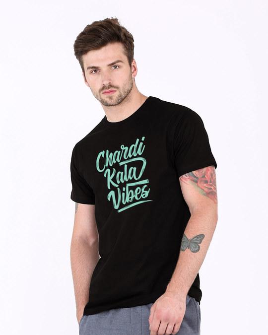 Shop Chardi Kala Vibes Half Sleeve T-Shirt-Full