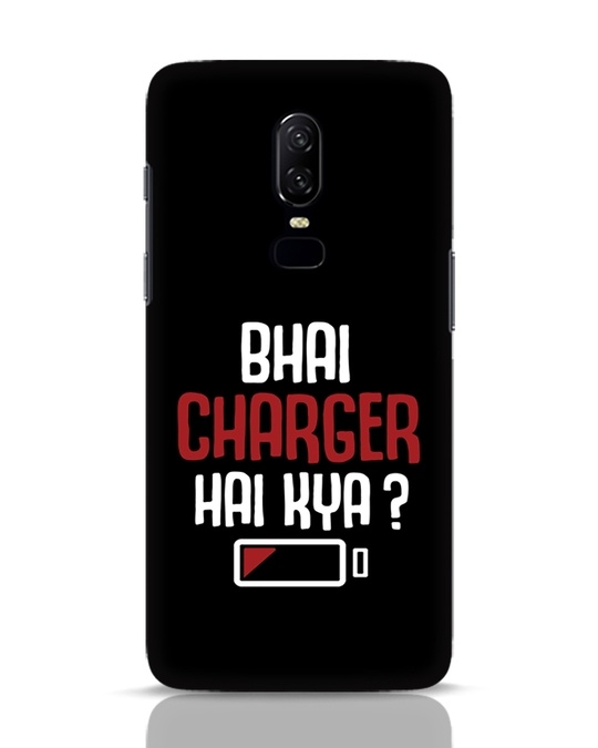 Shop Charger Hai Kya OnePlus 6 Mobile Cover-Front