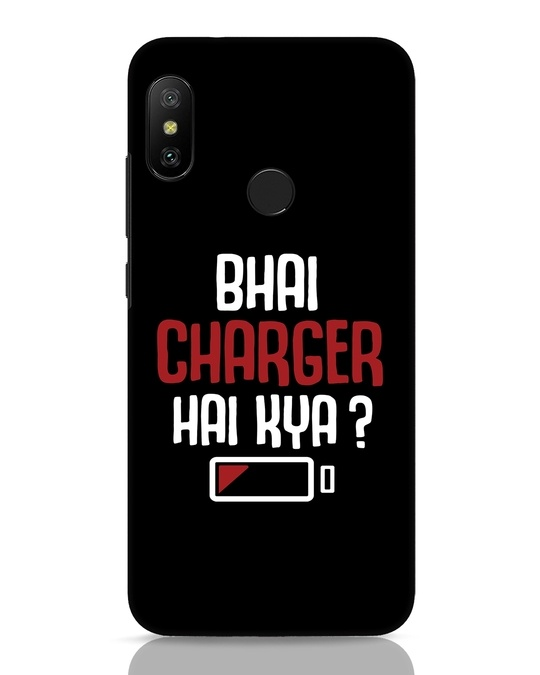 Shop Charger Hai Kya Xiaomi Redmi Note 6 Pro Mobile Cover-Front