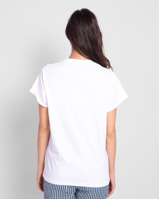 Shop Chasing Dream Boyfriend T-Shirts White-Full