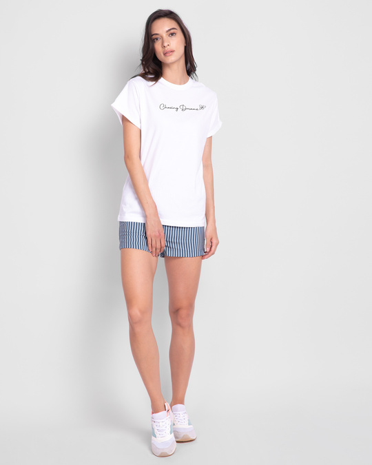 Shop Chasing Dream Boyfriend T-Shirts White