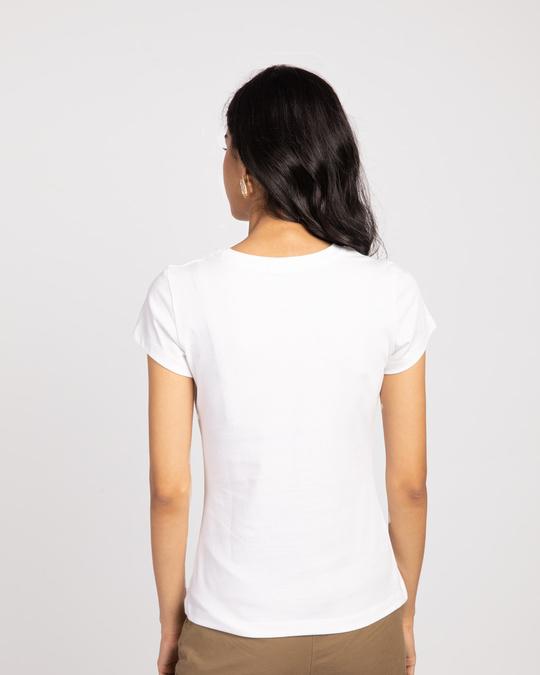 Shop Chasing Dream Half Sleeve Tshirt White-Back