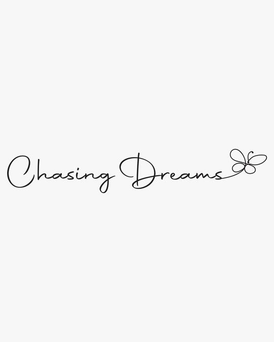 Shop Chasing Dream Half Sleeve Tshirt White-Full
