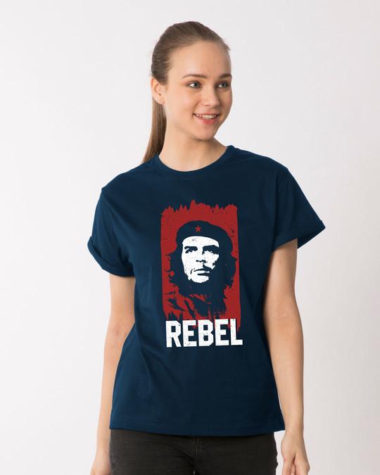 8c8f8bbe4 Buy Che Guevara Printed Half Sleeve Boyfriend T-Shirt For Women ...