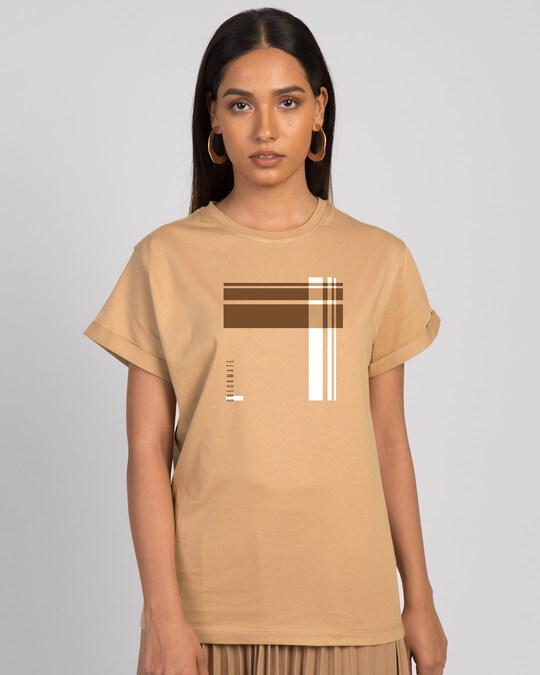 Shop Check Mate Block Boyfriend T-Shirt-Front