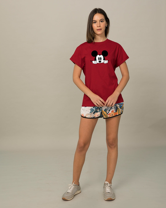 Shop Cheeky Mickey Boyfriend T-Shirt (DL)-Full