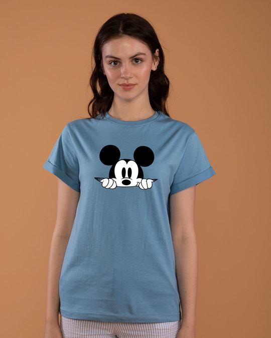 Shop Cheeky Mickey Boyfriend T-Shirt (DL)-Front