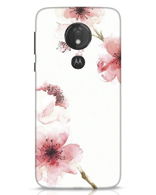 Shop Cherry Blossoms Moto G7 Power Mobile Cover-Front