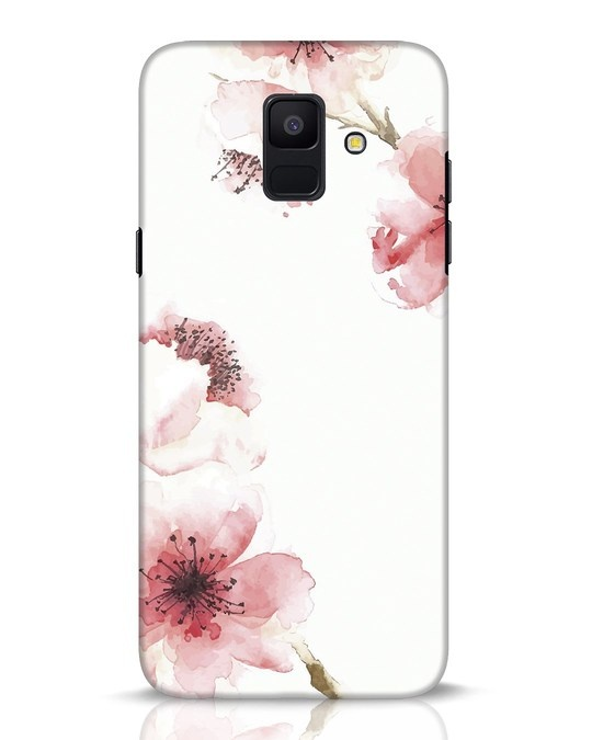 Shop Cherry Blossoms Samsung Galaxy A6 2018 Mobile Cover-Front