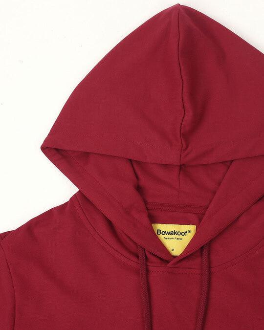 Shop Cherry Red Basic Hoodie
