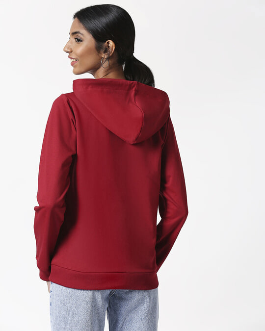 Shop Cherry Red Basic Hoodie
