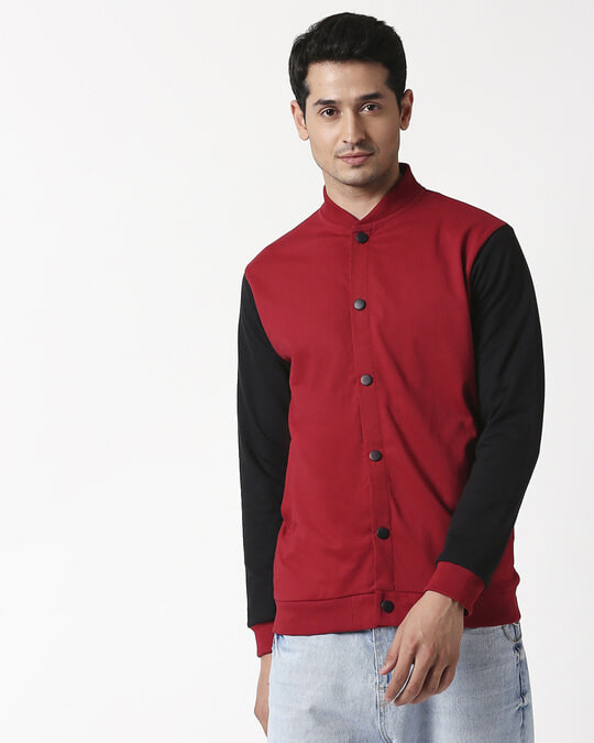 Shop Cherry Red Bomber Jacket-Design