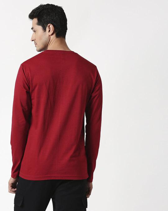 Shop Cherry Red Full Sleeve T-Shirt
