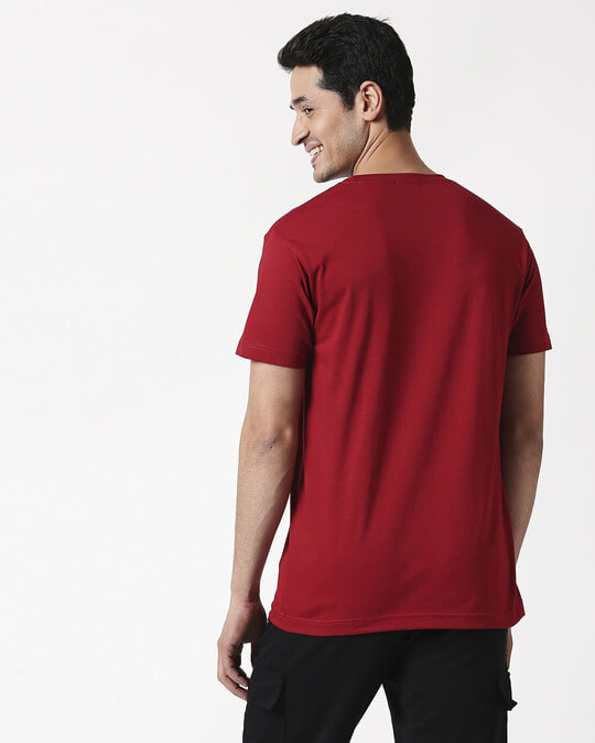 Shop Cherry Red Half Sleeve T-Shirt