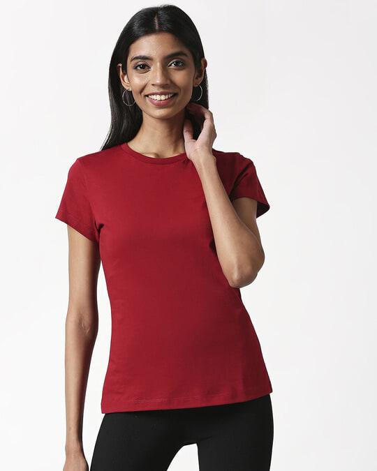 Shop Cherry Red Half Sleeve T-Shirt-Design