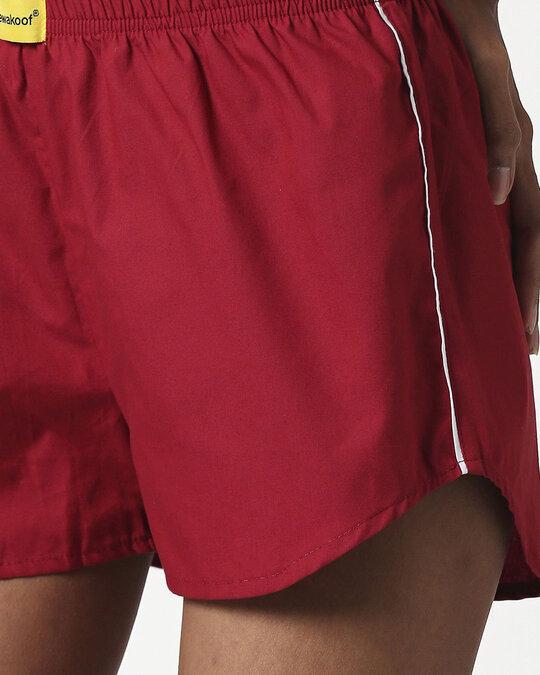 Shop Cherry Red Plain Boxer