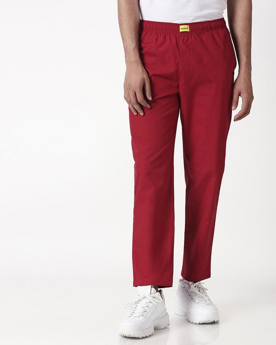 Shop Cherry Red Plain Pyjama-Design