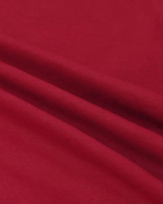 Shop Cherry Red Plain Pyjama