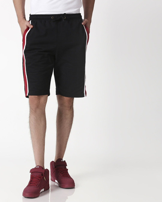 Shop Cherry Red Side Panel Shorts-Back