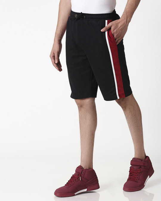 Shop Cherry Red Side Panel Shorts-Design